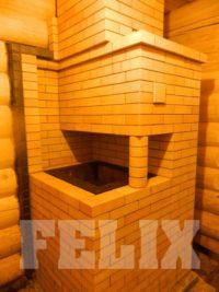 Банная печь из огнеупорного кирпича с колонной (Копировать)