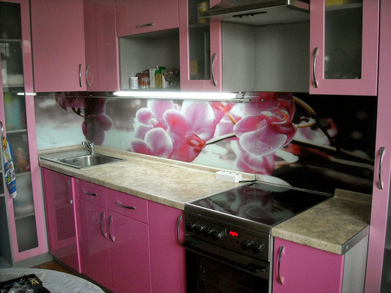 розовые стеновые панели