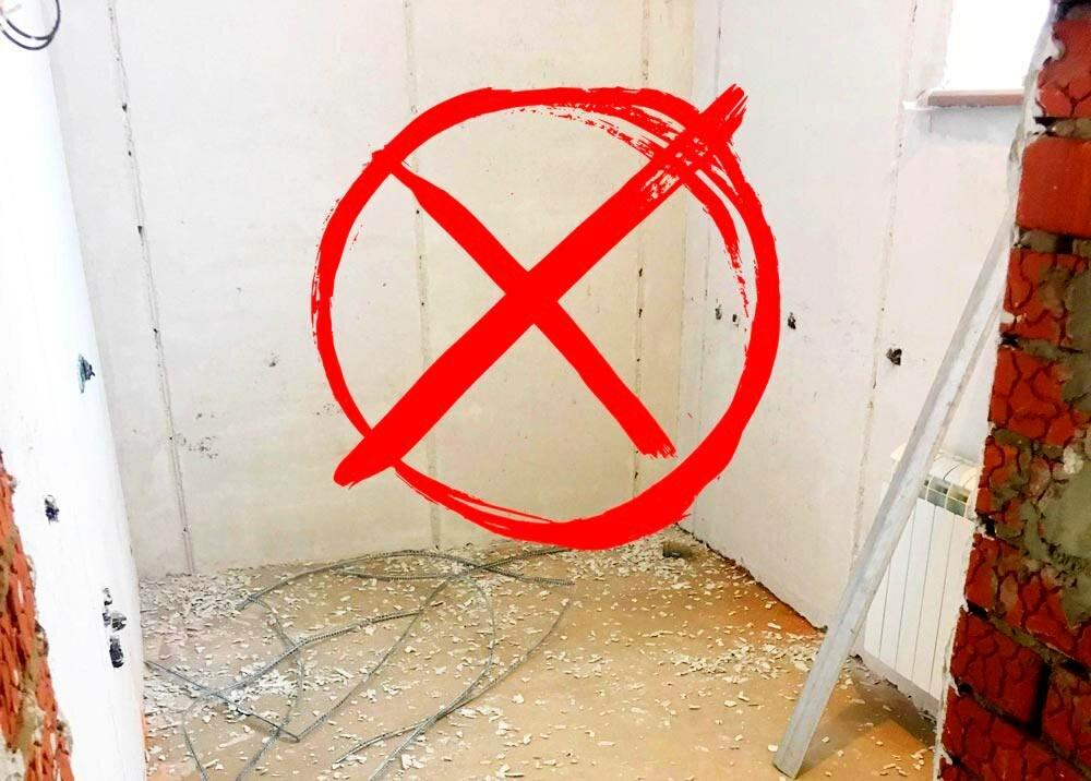 3 причины не укладывать плитку на гипсовую штукатурку. И что делать, если стены ею уже оштукатурены? Моё мнение