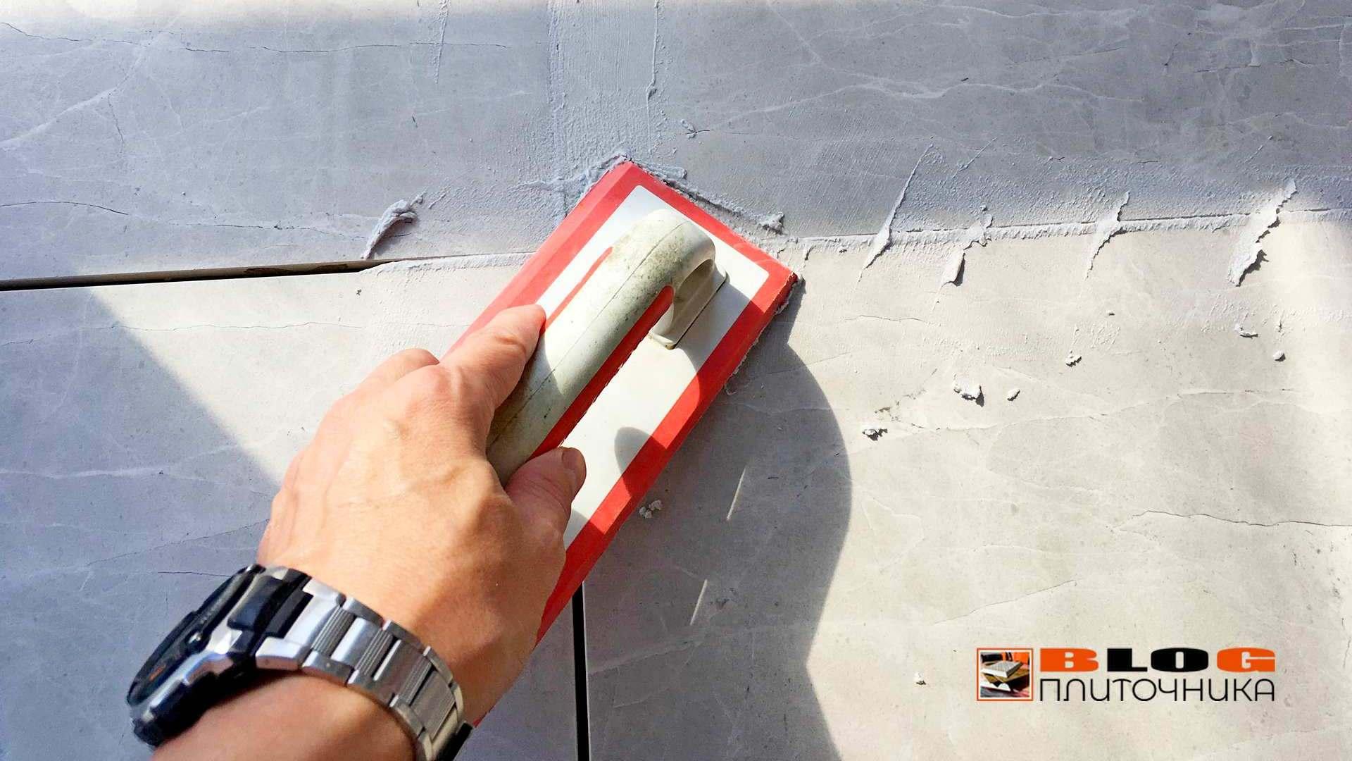 полимерная затирка швов под разными углами заполенение процесс фуговка швов керамогранита шов 4 мм блог плиточникаjpg