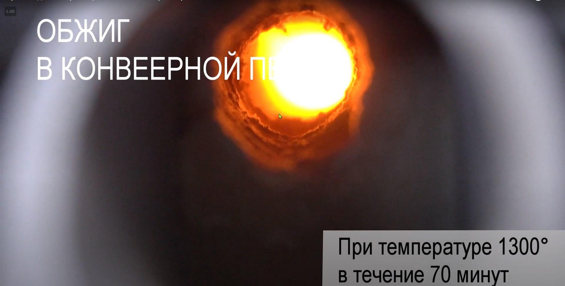 2.1 Обжиг керамогранита