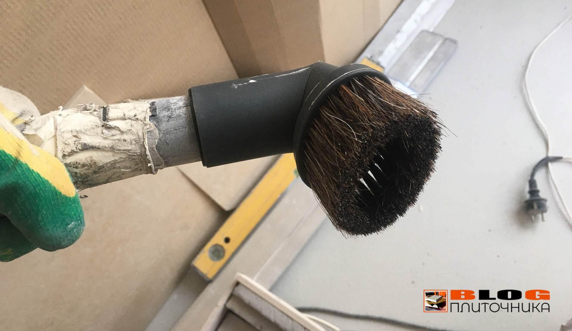 2. насадка для чистки швов мягкая для пылесоса