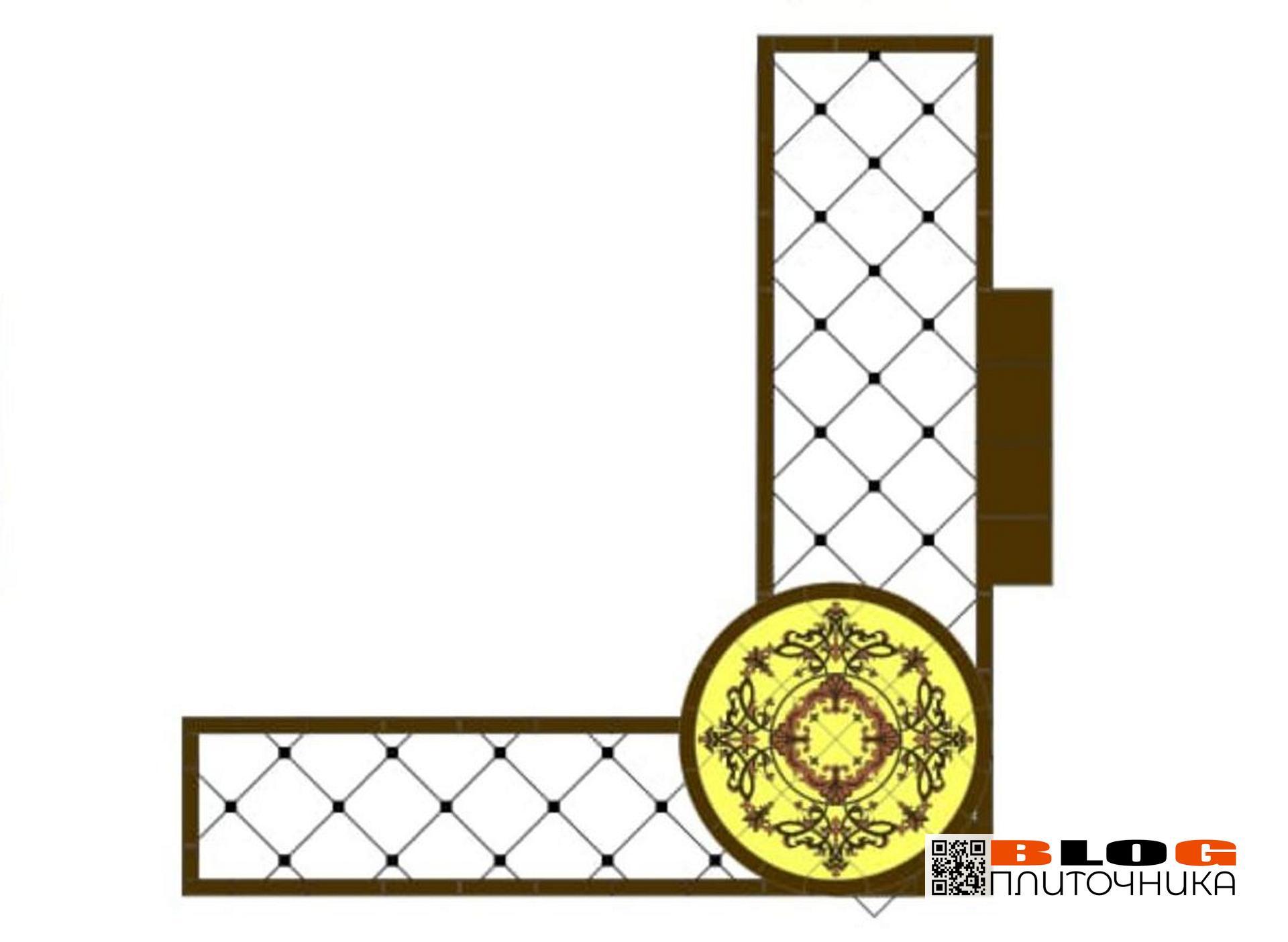 1.02 дизайн коридора из керемогранита и мозаики